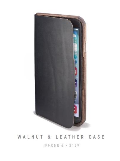 Walnut & Leather Case Iphone6