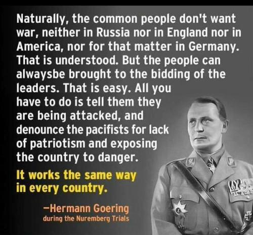 Hermann Goering about democracy.