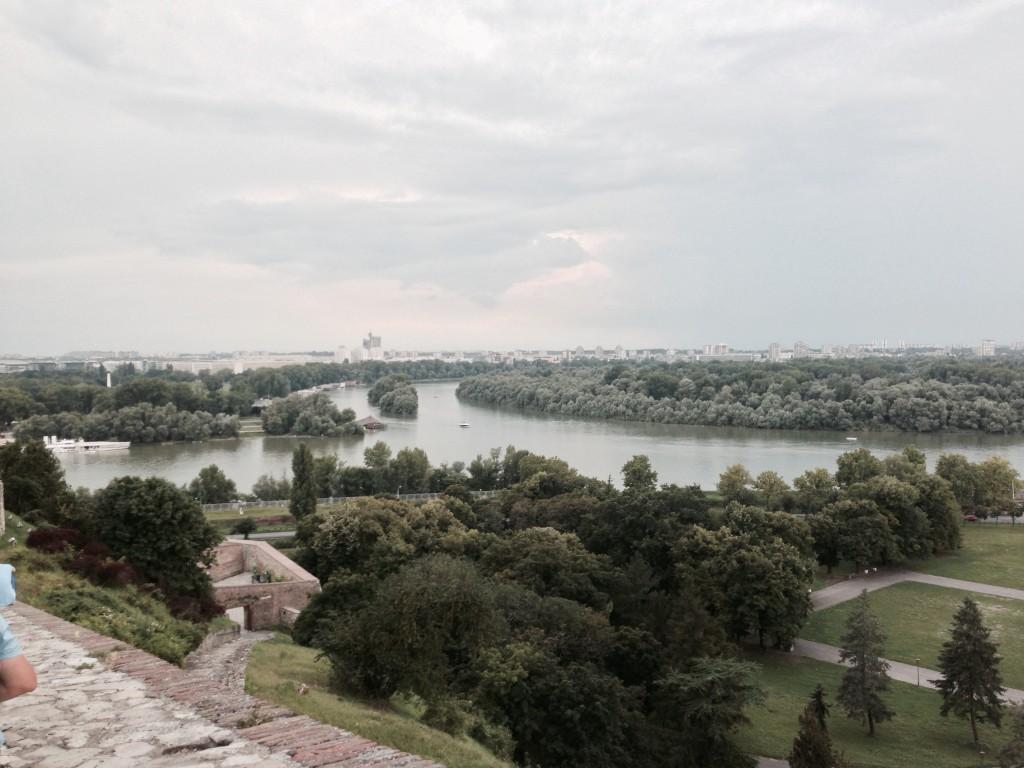 Калемегдан поглед на ушће Саве и Дунава