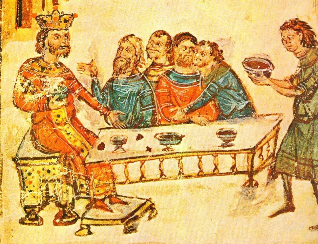 Lobanja vizantijskog cara Nikifora I je optočena u srebro i pretvorena u pehar za vino.