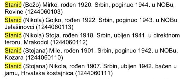 Bosna-opstina Bosanski Novi - Mrakadol 5 Stanića