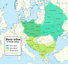 Staro srpski mapa - crkveno slovenski mapa